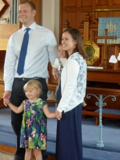 The Richardson Family on the occasion of Evan's Christening service