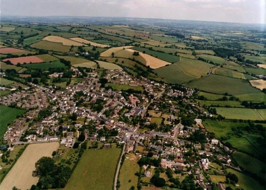 Silverton aerial view looking North Eastward