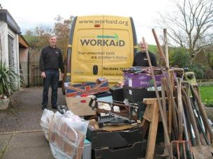 Yet another van load of tools collected for Workaid